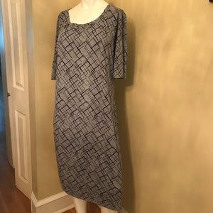 LULAROE Purple/ Grey Knit Dress/ BONUS Dress